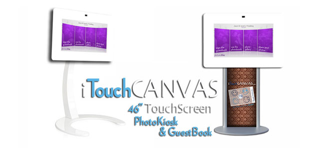 New 46 TouchScreen Photo Booth by iTouch Canvas